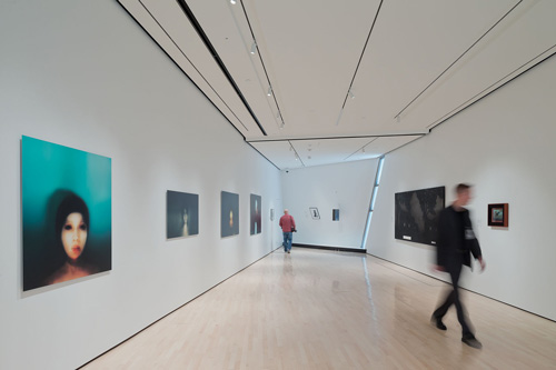 The Eli and Edythe Broad Art Museum at Michigan State University, designed by Zaha Hadid. Interior view (4).