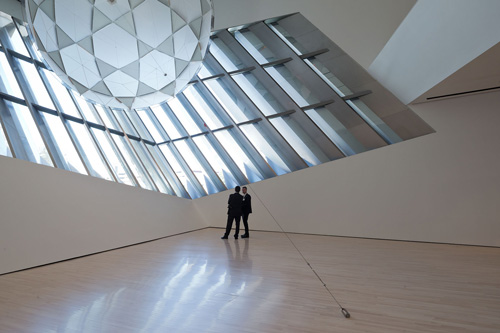The Eli and Edythe Broad Art Museum at Michigan State University, designed by Zaha Hadid. Interior view (5).