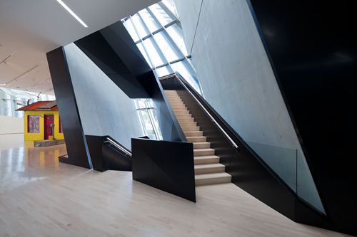 The Eli and Edythe Broad Art Museum at Michigan State University, designed by Zaha Hadid. Interior view (6).