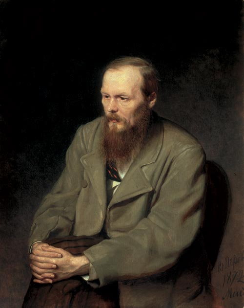 Vasily Perov. <em>Portrait of the Writer Fedor Dostoevsky</em>, 1872. Oil on canvas, 35 7/16 x 31 11/16 inches. The State Tretyakov Gallery, Moscow. Photo: © The State Tretyakov Gallery, Moscow.