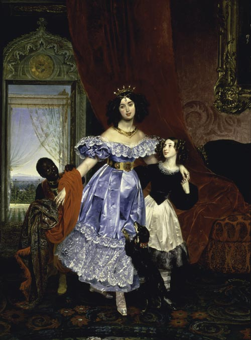 Karl Briullov. <em>Portrait of Countess Julia Samoilova</em>, 1832–34. Oil on canvas, 106 x 79 inches. Hillwood Museum and Gardens, Washington DC, Bequest of Marjorie Merriwether Post, 1973. Photo: Edward Owen.