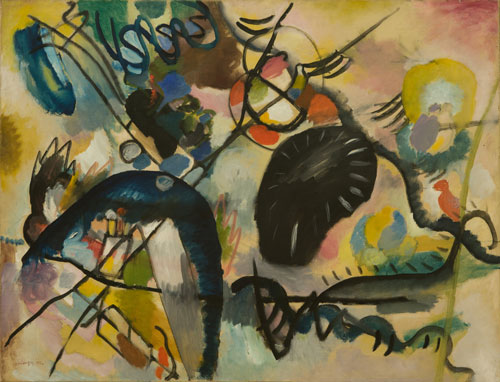 Wassily Kandinsky (1866-1944). Black Spot, 1912. Oil on canvas, 101 x 113 cm. St Petersburg, State Russian Museum, inv. ZhB-1323.