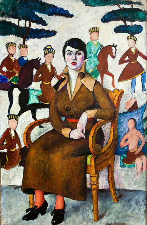 Il'ia Mashkov (1881-1944). Portrait of a Lady in an Armchair, 1913. Oil on canvas, 177 x 115 cm. Ekaterinburg, Museum of Fine Arts, inv. 370.
