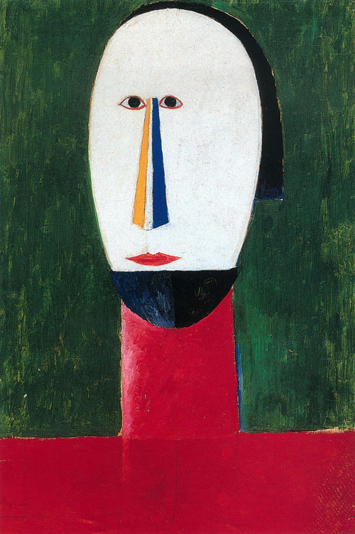 Kazimir Malevich (1879-1935). Head, 1928-1929. Oil on canvas, 61 x 41 cm. St. Petersburg, State Russian Museum, inv. Zh-9498.