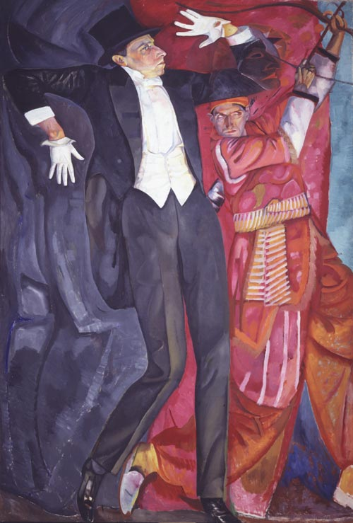 Boris Grigoriev. <em>Portrait of Vsyevolod Meyerhold</em>, 1916. Oil on canvas 247 x 163 cm. Image courtesy of the State Russian Museum, St Petersburg.