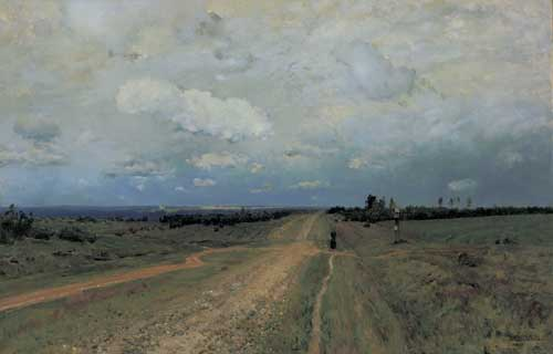 Isaak Ilich Levitan (1860–1900), The Vladimirka Road, 1892. Oil 
