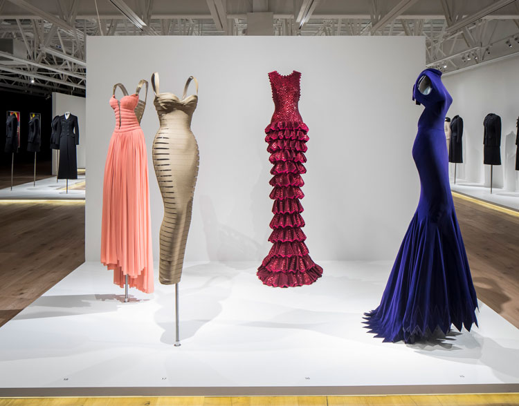Alaïa-Adrian: Masters of Cut, installation view. Image courtesy of SCAD.
