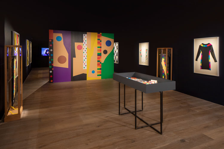 Derrick Adams: Patrick Kelly, The Journey. Installation view. Image courtesy of SCAD.