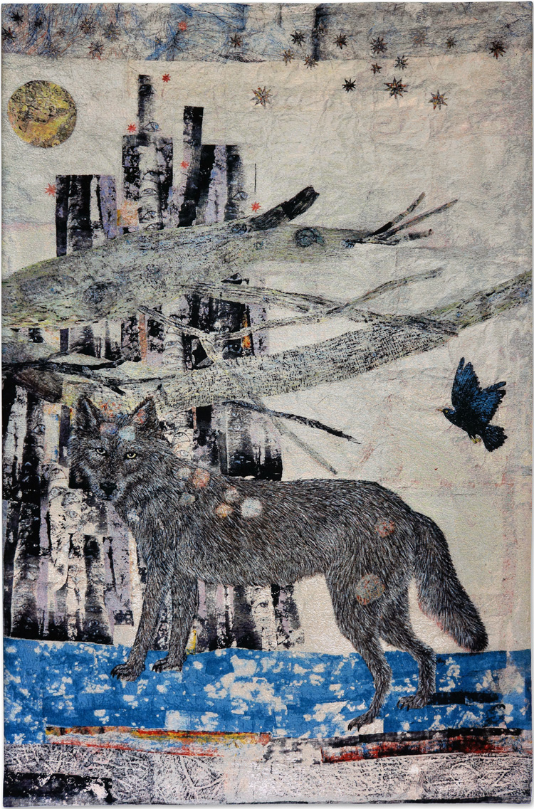 Kiki Smith, Cathedral, 2012. Jacquard tapestry © Kiki Smith. Courtesy Timothy Taylor, London/New York and Magnolia Editions.