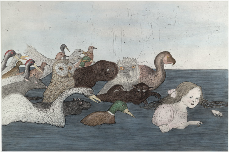 Kiki Smith, Pool of Tears II, 2000. Published by Universal Limited Art Editions. © Kiki Smith and Universal Limited Art Editions. Image courtesy of Universal Limited Art Editions.