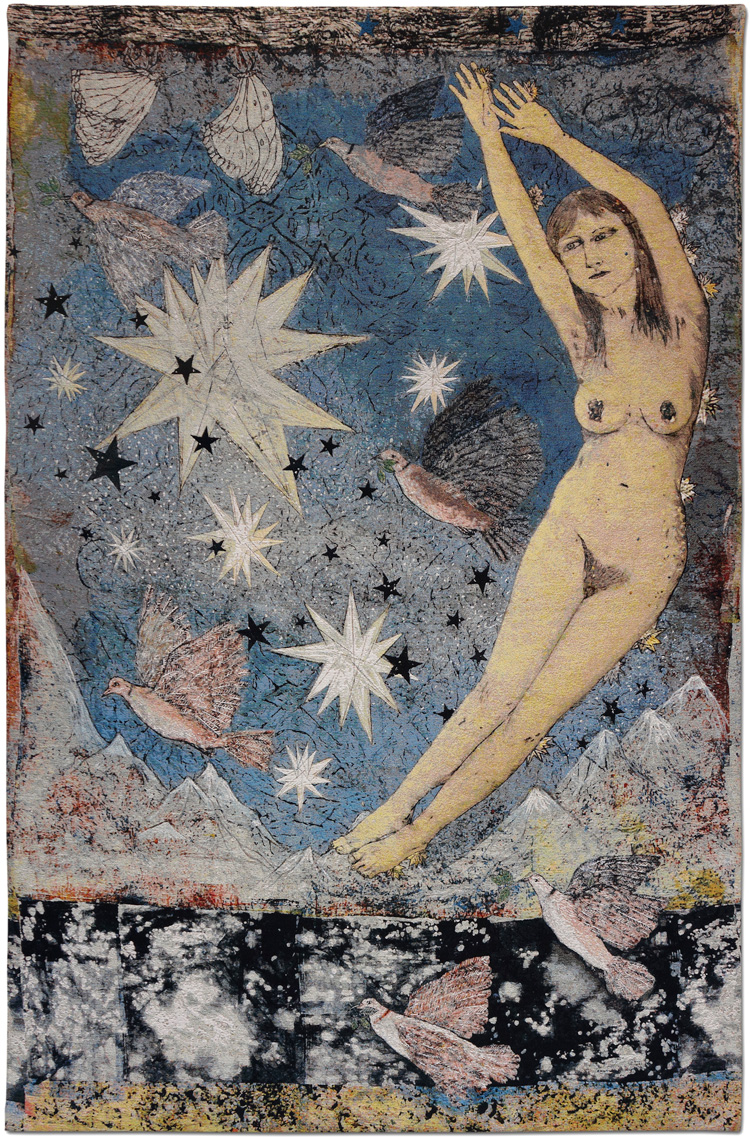 Kiki Smith, Sky, 2012. Jacquard tapestry. © Kiki Smith. Courtesy Timothy Taylor, London/New York and Magnolia Editions.