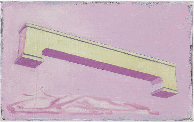 Michael Simpson. Untitled (Bench Painting), 2019. Oil on canvas, 32 x 20 cm. Images courtesy the artist and Blain|Southern.