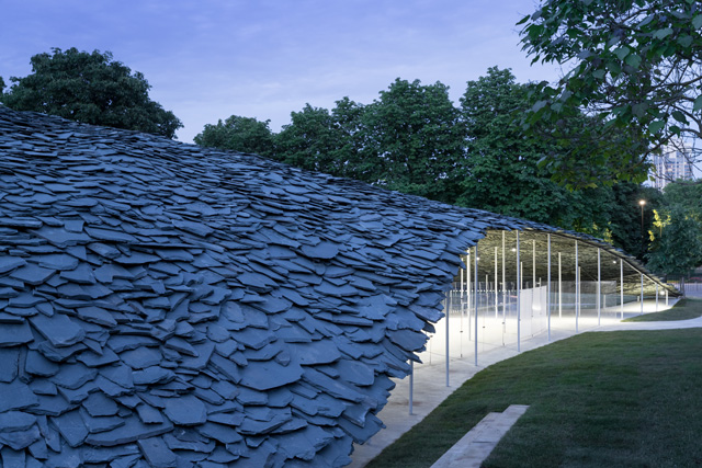Serpentine Pavilion 2019, designed by Junya Ishigami, Serpentine Gallery, London © Junya Ishigami + Associates, Photo © 2019 Iwan Baan.