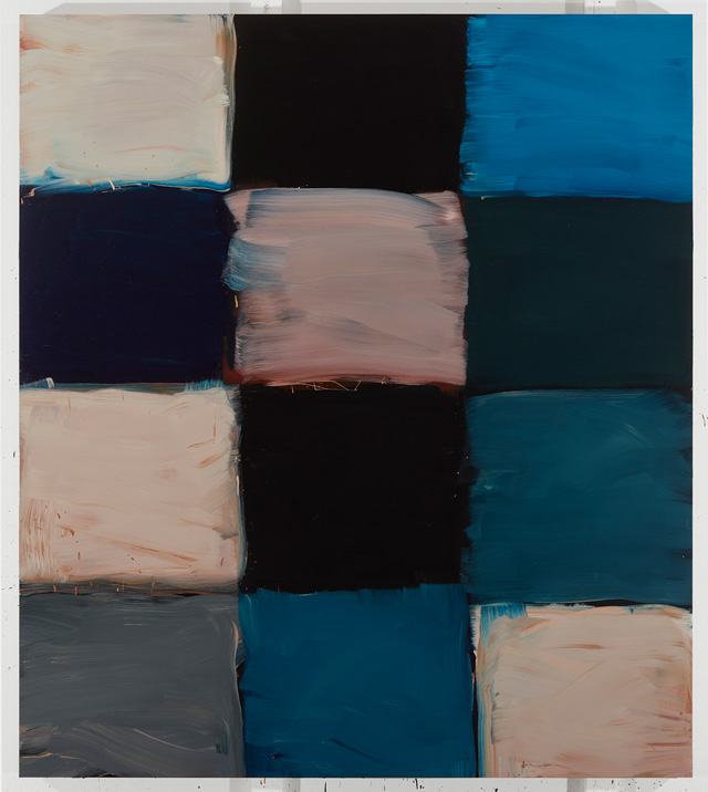 Sean Scully. Robe Magdalena, 2017. Oil on aluminium, 215.9 × 190.5 cm. Private collection. © Sean Scully. Photo: courtesy the artist.
