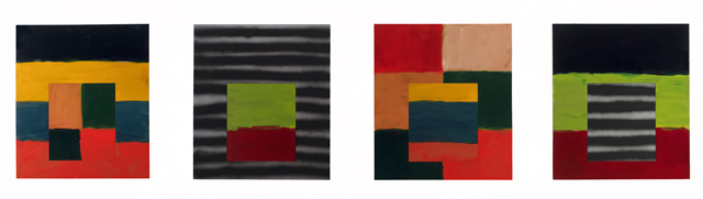 Sean Scully. Human 3, 2018. Oil on aluminium, each panel 215.9 × 190.5 cm. Private collection. © Sean Scully. Photo: courtesy the artist.