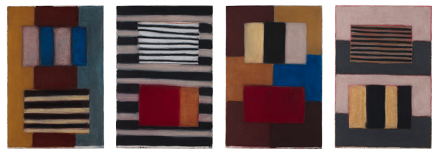 Sean Scully. What Makes Us, 2017. Pastel on paper, each panel 152.4 × 101.6 cm. Private collection. © Sean Scully. Photo: courtesy the artist.