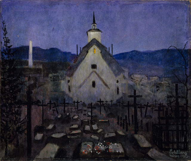 Harald Sohlberg. Night, Røros Church, 1903. The National Museum of Art, Architecture and Design, Norway.