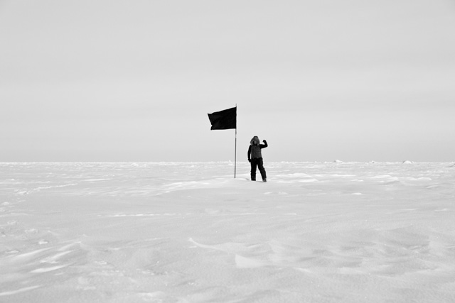 Santiago Sierra. North Pole Documentation, 2015. Ditone archival print on Hahnemuhle Photo Rag. Courtesy of Santiago Sierra Studio & a/political.
