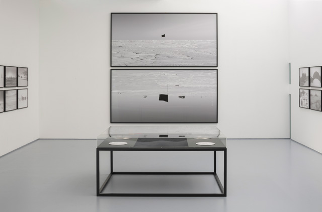 Santiago Sierra: Black Flag, installation view, Dundee Contemporary Arts Centre, Dundee. Photo: Ruth Clark.