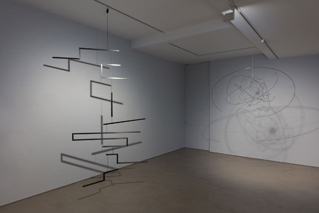 Suspension: A History of Abstract Hanging Sculpture, 1918-2018, installation view at Olivier Malingue, London. Photo: Luke A Walker.