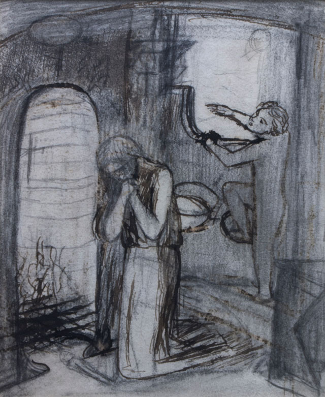 Lizzie Siddal. Sister Helen, c1860. Pencil, pen and brown ink.