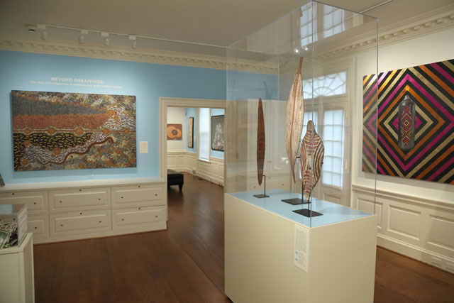 Beyond Dreamings, exhibition view, Kluge-Ruhe Aboriginal Art Collection.