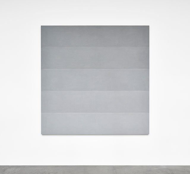 Ettore Spalletti. Sfumato, grigio, 2018. Colour impasto on board, 78 3/4 x 78 3/4 x 1 5/8 in (200 x 200 x 4 cm). Photograph: Rebecca Fanuele. Courtesy of the artist and Galerie Marian Goodman Paris.
