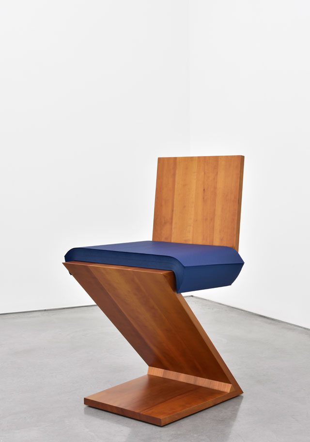 Ettore Spalletti. Caro Rietveld, 2007. Wooden chair and ream of tissue paper. Chair: 29 1/8 x 14 5/8 x 16 7/8 in (74 x 37 x 43 cm);