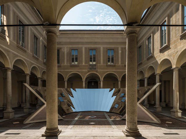 Philip K Smith III, Open Sky, Installation view, Palazzo Isimbardi, Milan. Photograph: Lance Gerber. Courtesy of the artist and Cos.