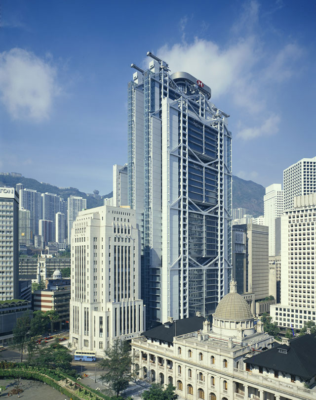 Hongkong and Shanghai Bank. Photograph: © Foster + Partners, Ian Lambot.