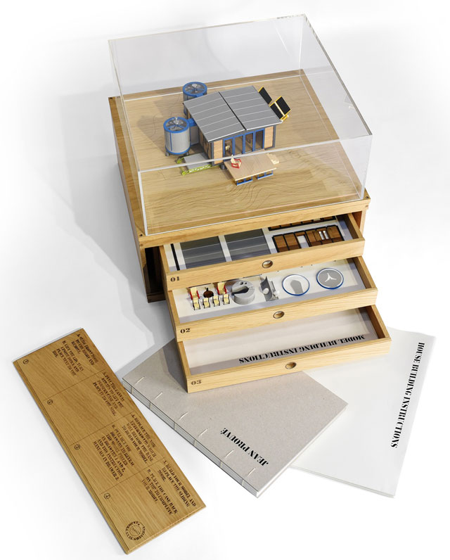 Jean Prouvé House box, comprising 1:30 scale model and 3D contents. Photograph: © Rogers Stirk Harbour + Partners.