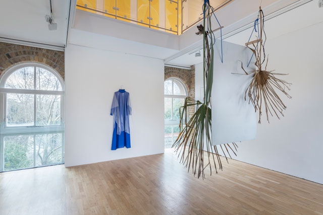 Sriwhana Spong, a hook but no fish, installation view, 2017. Courtesy the artist, Michael Lett, Pump House Gallery. Photograph: Damian Griffith.