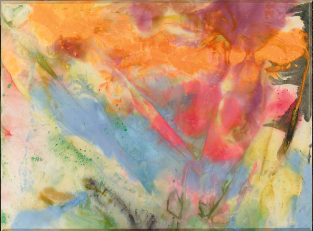 Sam Gilliam. After Glow, 1972. Acrylic and dye pigments on canvas, 6 ft 2 1/4 in x 8 ft 4 1/4 in x 2 in (188.6 x 254.6 x 5.1 cm). © Sam Gilliam. Courtesy of the artist.