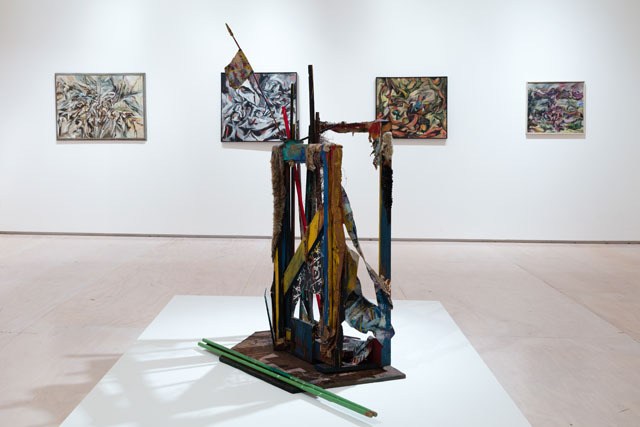 Installation view of Carolee Schneemann: Kinetic Painting, MoMA PS1, New York, October 22, 2017 to March 11, 2018. Image courtesy MoMA PS1. Photograph: Pablo Enriquez.