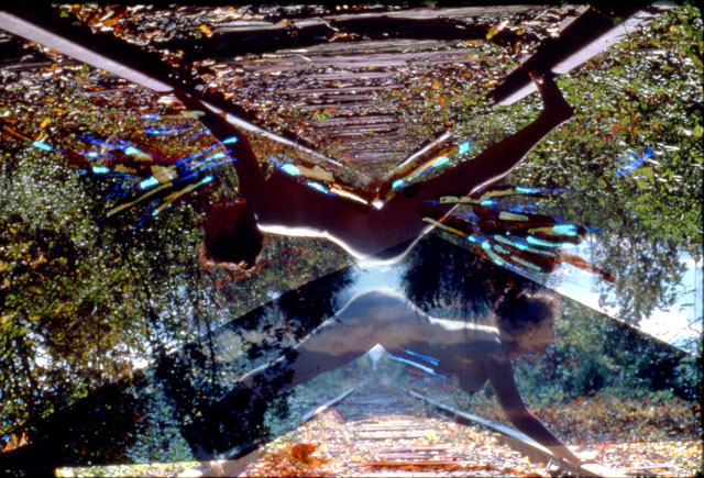 Carolee Schneemann. Nude on Tracks, 1962-77. Hand-tinted chromogenic colour prints of photographs on archival paper. © 2017 Carolee Schneemann. Courtesy the artist, P.P.O.W, and Galerie Lelong, New York. Photograph: Charles Stein.