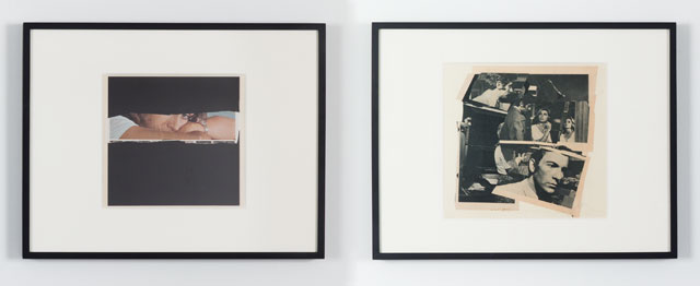 John Stezaker. Untitled (Photoroman), 1977. Collage. Diptych paper: (left) 9 x 9in (22.8cm x 23.2 cm); (right) 10.75 x 9.75 in (27.2cm x 24.7cm). Courtesy of the artist and Petzel, New York.