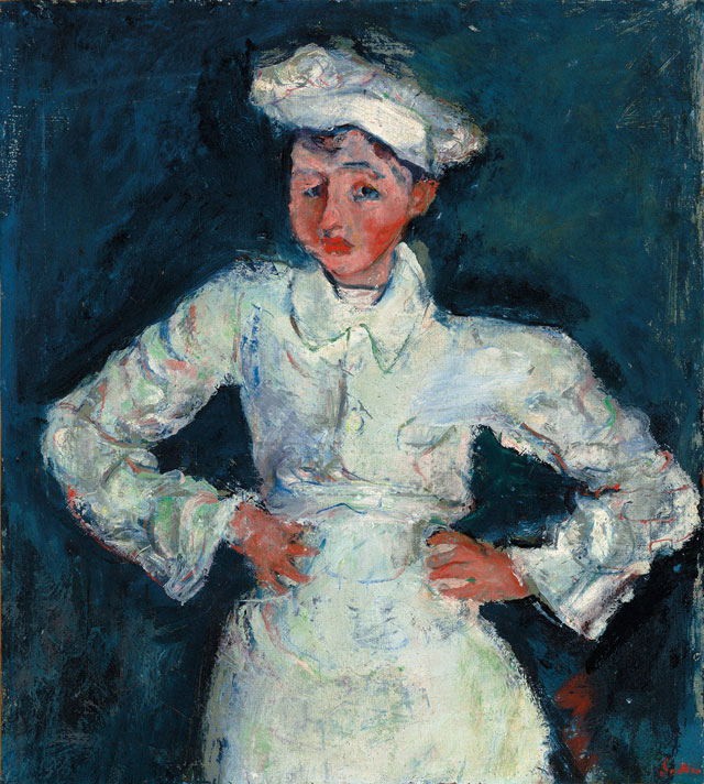 Chaïm Soutine. The Pastry Cook (Le petit pâtissier), 1925, 76.2 cm. The Lewis Collection.