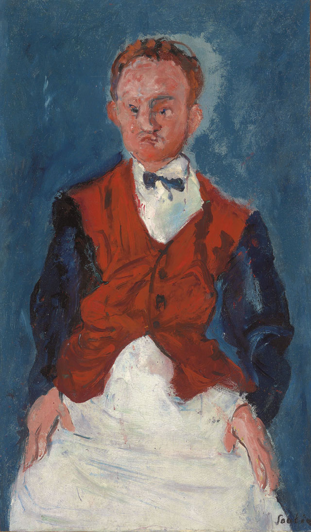 Chaïm Soutine. Valet, c1927, 72.4 x 42.5 cm. Private collection.