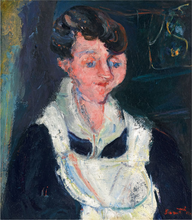 Chaïm Soutine. Waiting Maid (La soubrette), c1933, 46.5 x 40.5 cm. Ben Uri Gallery and Museum.