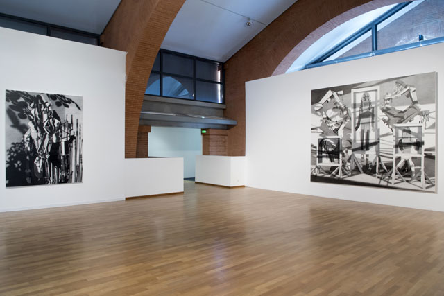 Avery Singer. Installation view. Courtesy of Kraupa Tuskany-Zeidler, Berlin; Gavin Brown's Enterprise, New York. Photograph: Thomas Mueller.