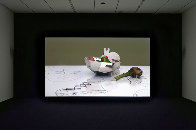 Helen Marten. Orchids, or a hemispherical bottom, 2013. Video, colour, sound, duration: 19:24 mins. Courtesy of the artist; Sadie Coles HQ, London; Greene Naftali, New York; Johann Koenig, Berlin, and T293, Rome/Naples.