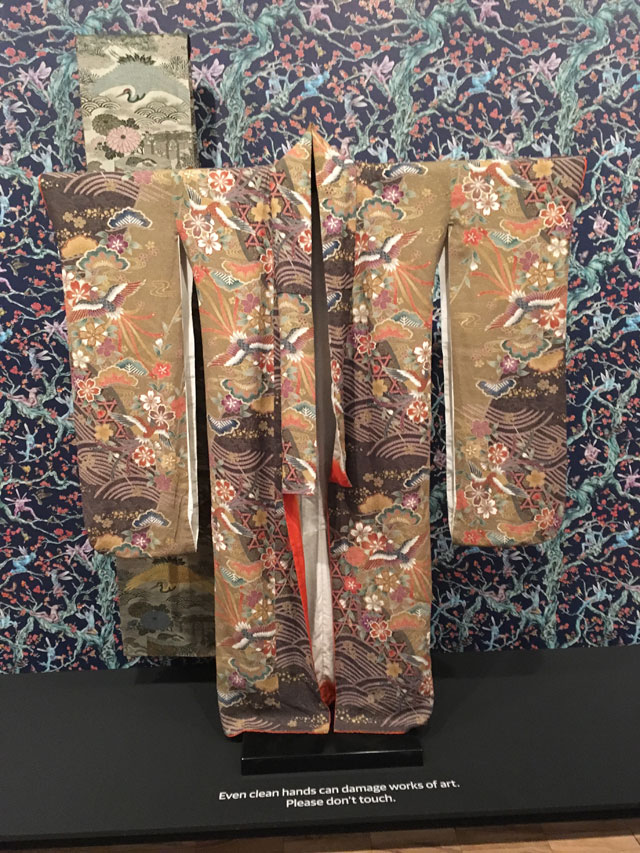 Uchikake Kimono and Obi (from artist's photoshoot for Kashmir Danae). Circa 1870, silk and metal wrapped threads. Kimono is the artist's own.