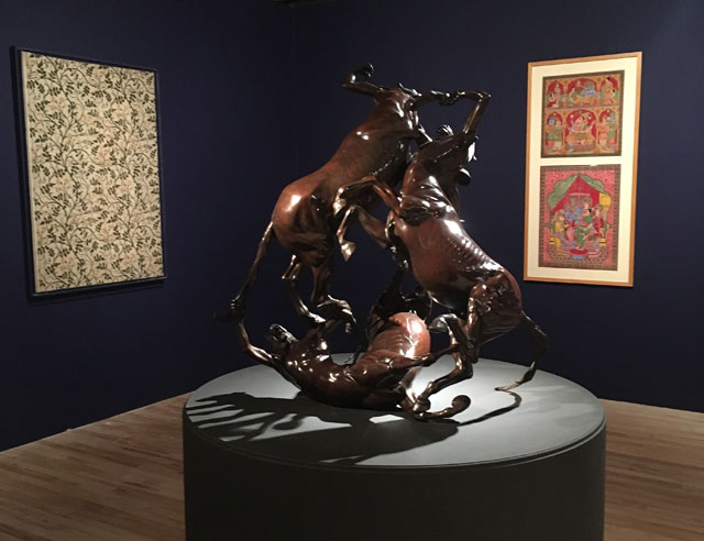 Raqib Shaw. Centaur Trio, 2016. Bronze with Renaissance patina. Photograph: Veronica Simpson.