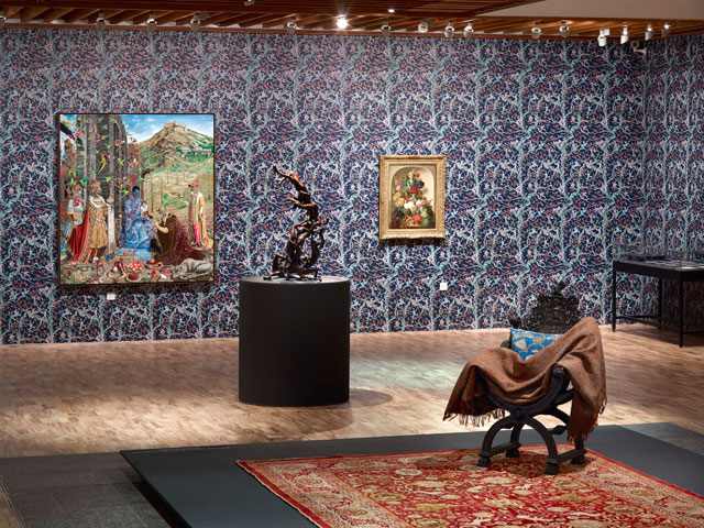 Raqib Shaw, installation view, the Whitworth Manchester, 2017.
