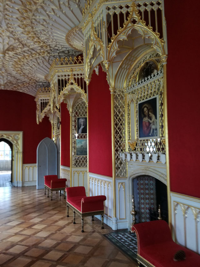 Interior view, Strawberry Hill House. Photograph: © Christian Guckelsberger.
