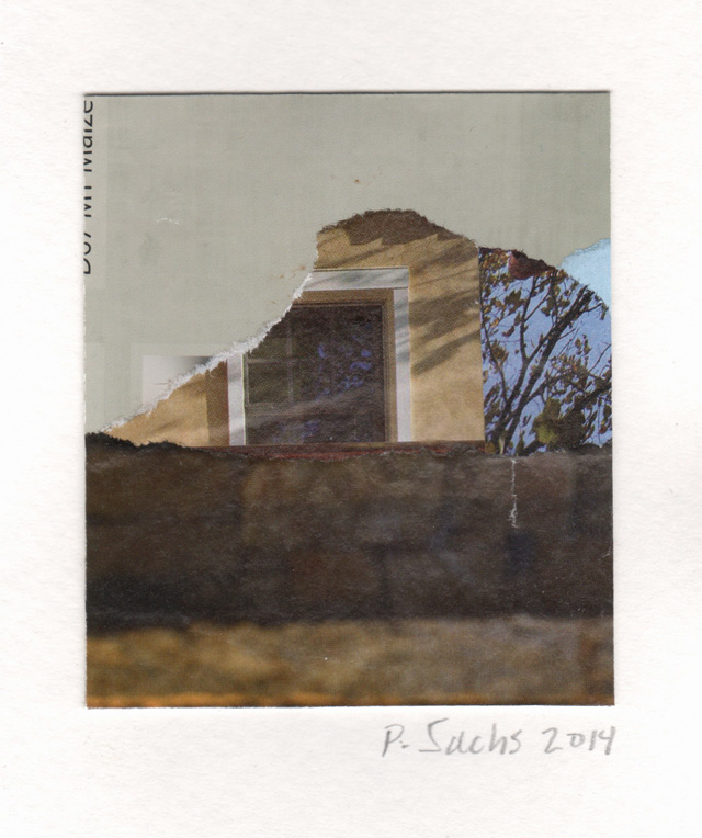 Pat Sachs. Palazzo Corsini From Our Abandoned Lot, 2014. Collage, 70 x 60 mm (2¾ x 2⅜ in).