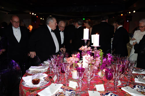 Beautifully arranged tables with guests.  Arthur M. Sackler Gallery Gala.