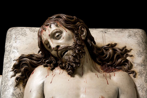 Gregorio Fernández (about 1576–1636). <em>Dead Christ (detail)</em>, 1625–30. © Photo Imagen M.A.S. Courtesy of Museo Nacional del Prado, Madrid. On long loan to the Museo Nacional Colegio de San Gregorio, Valladolid.