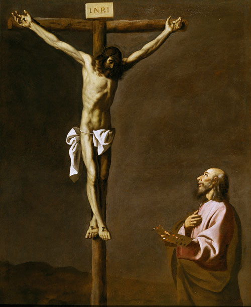 Francisco de Zurbarán (1598–1664). <em>Saint Luke contemplating the Crucifixion</em>, 1630s. © Museo Nacional del Prado, Madrid.