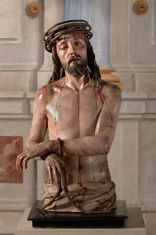 Pedro de Mena (1628–1688). <em>Christ as the Man of Sorrows</em>, 1673 Convento de las Descalzas Reales, Madrid. © 2009 Photo Gonzalo de la Serna. Courtesy of Patrimonio Nacional, Madrid.